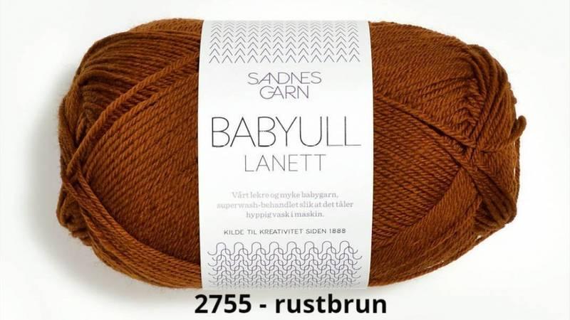 Babyull Lanett 2755 Rust brun