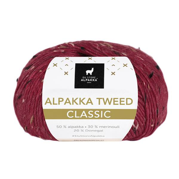 Alpakka Tweed Classic 116 Dyp rød